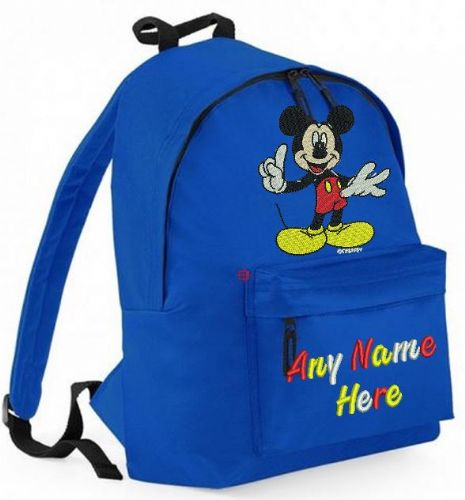 MICKEY MOUSE Rucksack/Backpack with any name